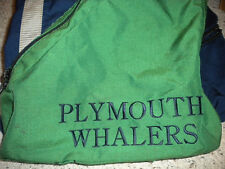 OHL CHL PLYMOUTH WHALERS GAME USED VINTAGE HOCKEY SKATE BAG