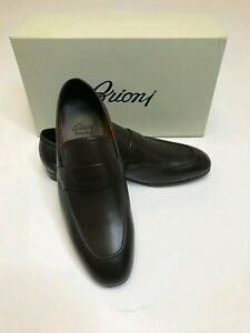 Brioni Shoes Loafers Gorgeous Most Luxurious Brown Soft Light Weight Shoes 43/10