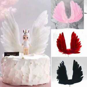 Feather Wing Wedding Cake Topper For Valentines Day Decor Feather Party Supplies