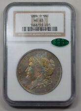 1884-O Morgan Dollar NGC MS63 CAC PQ rainbow toned Obv.