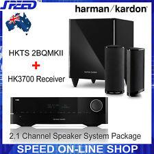 Harman Kardon HK3700 Receiver + HKTS 2BQMKII/230  2.1 CH Speaker System Package