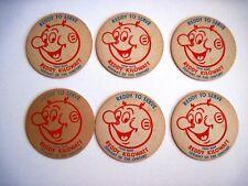 "Vintage set of (6) Coasters w/ ""Reddy Kilowatt"" That says ""Reddy To Serve"" *"