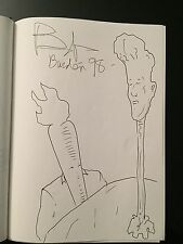 BOB BURDEN THE FLAMING CARROT Original Comic Sketch SIGNED Dragon Con 98 Indy