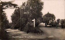 Wingham near Canterbury. Newey Down in Pollard's Series. Hay Cart.