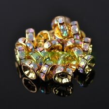 Wholesale Bulk Czech Crystal Rhinestone Rondelle Spacer Beads  4/5/6/8/10/12mm