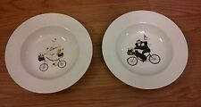 2004 ONEIDA KITCHEN STONEWARE SALAD BOWL CHEFS TO GO JENNIFER GARANT Set Of 2
