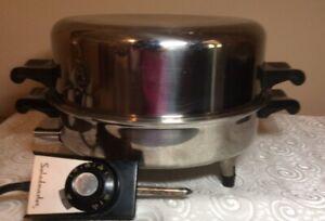 """Saladmaster 11"""" 7815E Oil Liquid Core Electric Skillet 1150 Watts Dome Lid"""