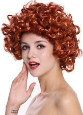Perruque Femmes Carnaval Longueur Moyenne Forte Bouclé Boucles Rouge 80s 91074