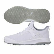 Puma Mens Fusion EVO Golf Shoes - White/Grey - 19385002 - New 2021
