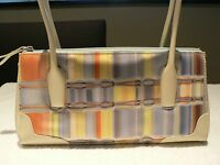 SONDRA ROBERTS Blue Green Rust Purse Small Shoulder Bag Off-White Trim