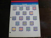 Canada post mint series postal scrip issued 1966-68 stuck to page
