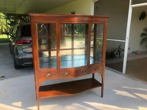 Superb quality Mahogany antique Display Cabinet Irvin & Casson Boston & New York