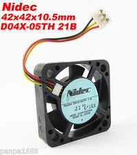 10pcs Nidec D04X-05TH 21B 42x42x10.5mm 4210 5V 0.16A 5.3CFM DC Cooling Fan UK