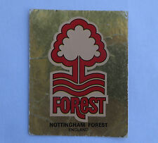 Panini Fussballsticker 1980   Nottingham Forest  Gold Wappen Fussballbild