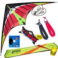 Prism Hypnotist Delta 2-Line Stunt Kite Kit + Vid Lnk + Padded Straps - Fire