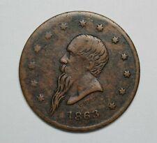 1863 Civil War New York Gustavus Token - 171729A