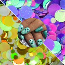 12 Colors Nail Art Hologram Body Glitter Sequins Round DIY Decoration Nail Tips