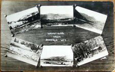 1910 Realphoto Postcard: Multiple Views, Greetings from Buffalo, Wyoming Wy
