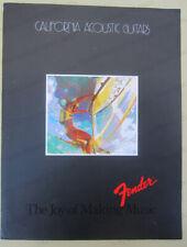 vintage FENDER CALIFORNIA ACOUSTIC GUITARS brochure