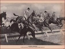 CANADIAN STEEPLECHASE, THORNDALE by George Ford Morris, vintage print 1952