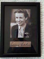 HANNA REITSCH ,german female pilot ,A4 autograph display