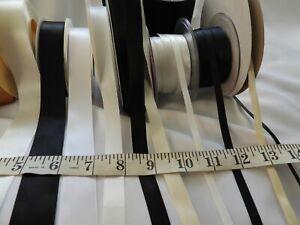 3m + Satin Ribbon trim dressmaking cardmaking various colours and widths