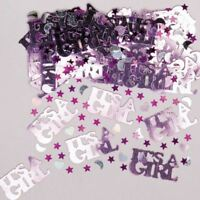 Its A Girl Confetti Gender Reveal Baby Shower Party Table Sprinkles