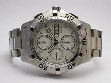 TAG HEUER AQUARACER MENS STEEL CHRONOGRAPH DAY DATE STYLE# CAF2011