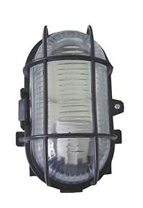 Bulkhead Light/Lamp with Protective Wire Guard for Indoor/Outdoor Outside Use