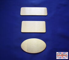 Stainless Steel Plaque Badge Brooch Keytag Jewellery Making Blanks
