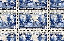 1949 - Washington & Lee University #982 Full Mint Sheet of 50 Postage Stamps