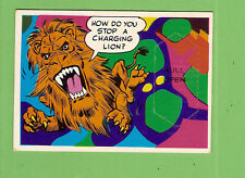 #D349. SCANLENS 1969 LAUGH IN   CARD #69 HOW TO STOP A LION CHARGING