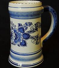 Chope à bière BLUE DELFTS HEINEKEN Hand-painted Holland (très bon état)