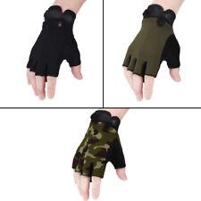 Kids Adjustable Bike Gloves Half Finger Breathable Anti-slip For Riding Cycling