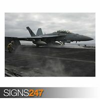 A JET LAUNCHES FROM THE (AC201) ARMY POSTER - Photo Poster Print Art * All Sizes