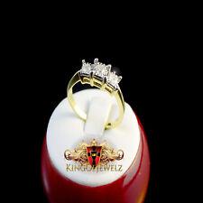 PAST PRESENT FUTURE GENUINE REAL DIAMOND 10K YELLOW GOLD LADIES WOMEN RING BAND