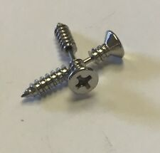 Phillips Head Screw Fake Gauge Studs Stainless Steel NORMAL EARRINGS! 1PR SILVER