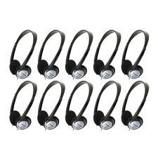 Panasonic RP-HT21 Lightweight On-Ear Headphones with XBS (10-Pack)