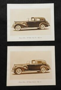 1931-32 PACKARD ROLLSON ALL WEATHER TOWN CAR & CABRIOLET ORIGINAL PRINTS RARE