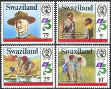 Swaziland 1982 Scouts/Baden-Powell/Scouting/People 4v set (n22162)