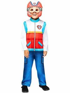 Childs Classic Ryder Fancy Dress Paw Patrol Costume Cartoon Boy Leader Kids