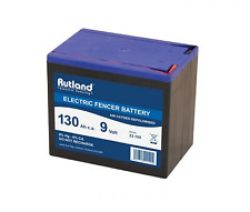 9 Volt Electric Fencer Battery 130Ah Rutland British Company High Quailty