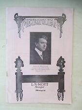 November 7th, 1915 - Metropolitan Opera Playbill - Seven Keys To Baldpate