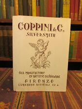 1959 COPPINI & C. SILVERSMITH ARTISTIC SILVERWARE Rare Priced Catalogue Antique