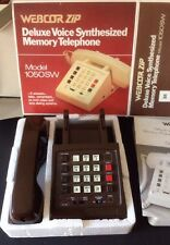 Webcor Zip Deluxe Voice Synthesized Memory Telephone Hearing Aid Comp Brown