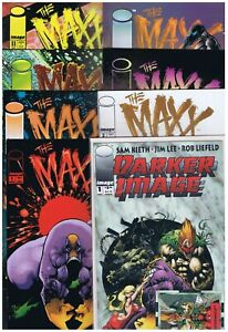 8 pc LOT: The Maxx #s 1,2,4,5,6,8,11 + Darker Image #1 First Print VF/NM (Image)