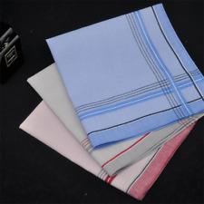 Mens Handkerchiefs Cotton Pocket Male Fashion Suit Hanky 40x40cm Business