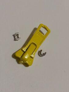 NO#5,YELLOW SLIDER/PULLER/RUNNER FOR VISLON/PLASTIC/MOLDED/CHUNKY YKK ZIP
