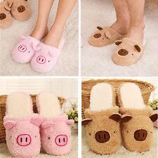 Women Men Couple Winter Pig Indoor House Slipper Gift Anti-slip Home Warm Shoes
