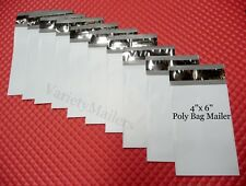 "80 Poly Bag Postal Envelopes Extra Small 4""x 6"" ~ Self-Sealing Shipping Mailers"